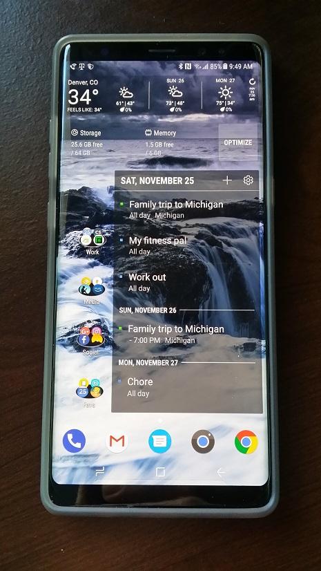 Samsung Note 8 Samsung Pay Malfunction - Denver Realtor Christopher Gibson