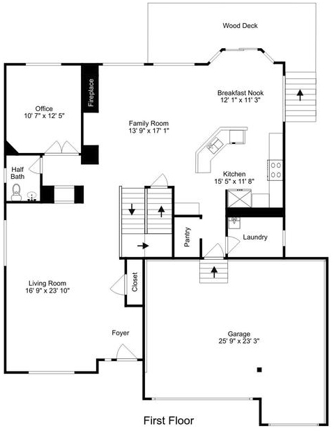 4502 S Jebel Way Willow Trace Neighborhood Floor Plan