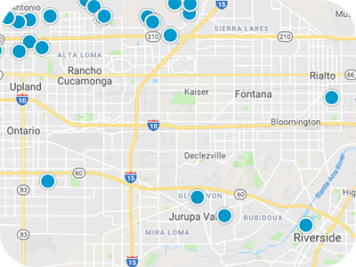 Inland Empire Real Estate Map Search