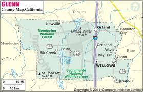 Glenn County Map