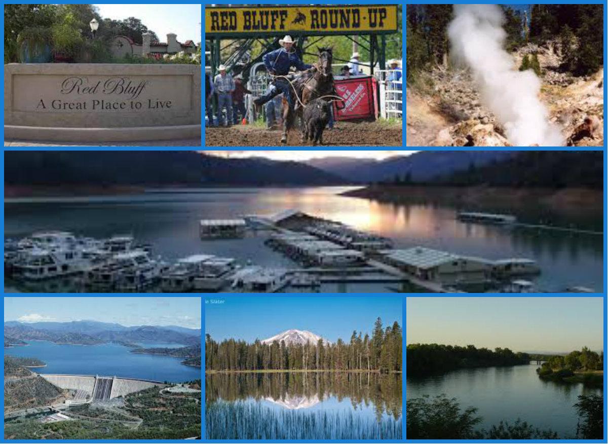 Collage - Red Bluff-Lassen-Lake Shasta