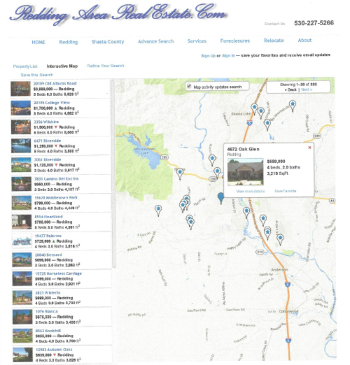 Map Search For Tehama County