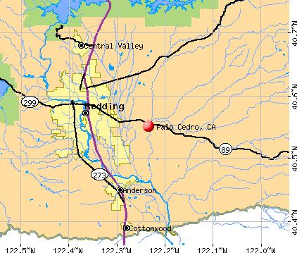 Palo Cedro Map