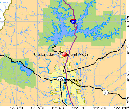 Shasta Lake City Map