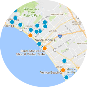 West Los Angeles Real Estate Map Search