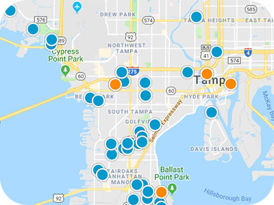 Tampa Bay Area Real Estate Map Search