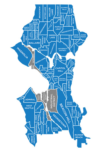 Seattle Neighborhood Search Map
