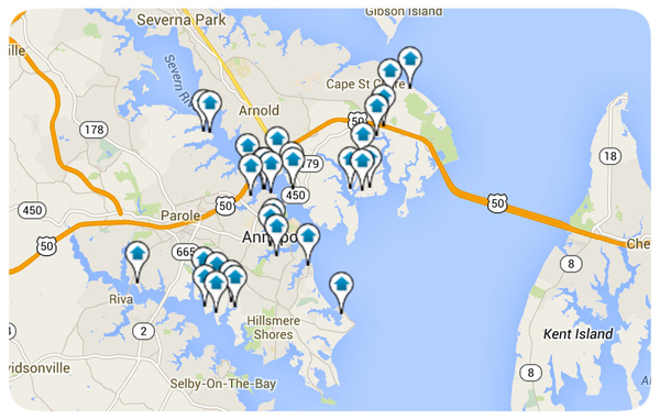 Annapolis Homes for Sale Map Search