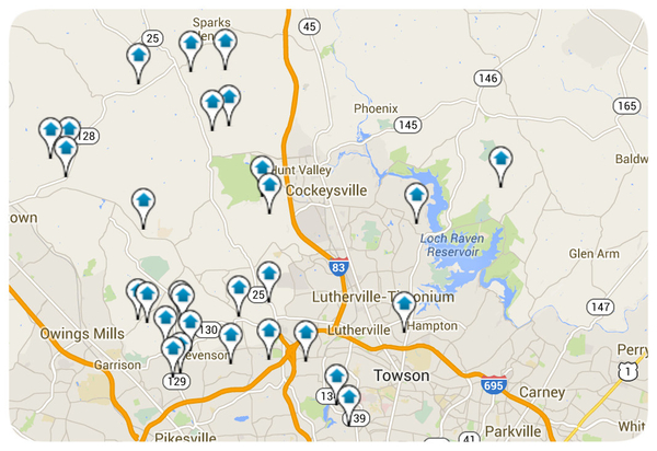 Baltimore County Homes for Sale Map Search