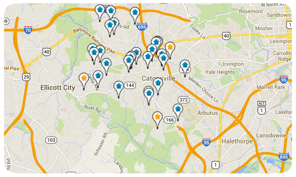 Catonsville Homes for Sale Map Search