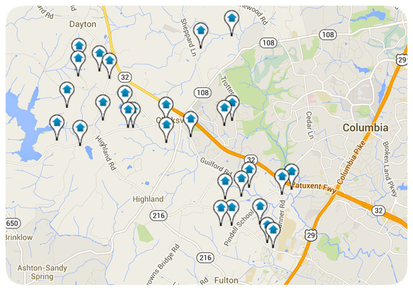 Clarksville Homes for Sale Map Search