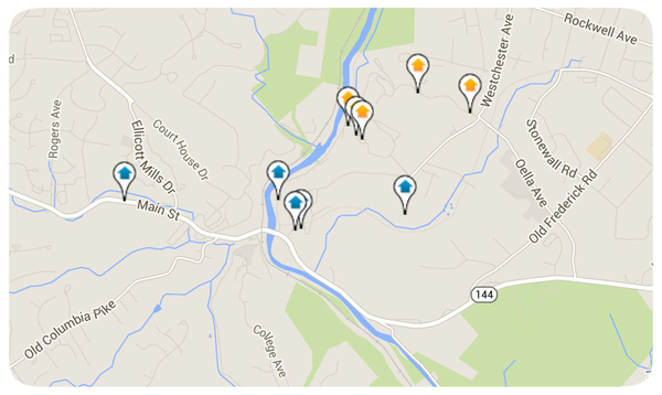 Ellicott City Homes for Sale Map Search