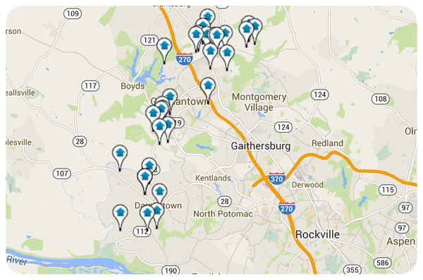 Germantown Homes for Sale Map Search