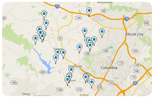 Howard County Homes for Sale Map Search