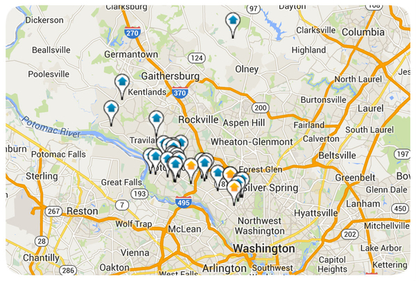 Montgomery County Homes for Sale Map Search