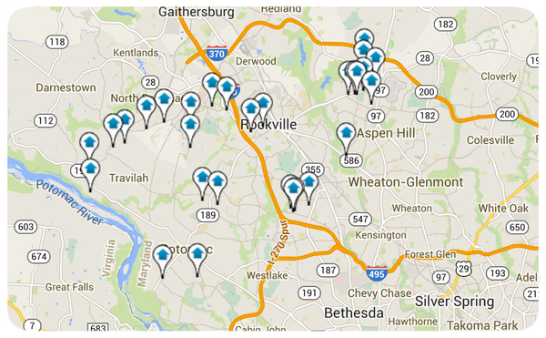 Rockville Homes for Sale Map Search