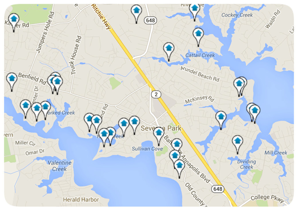 Severna Park Interactive Map Search