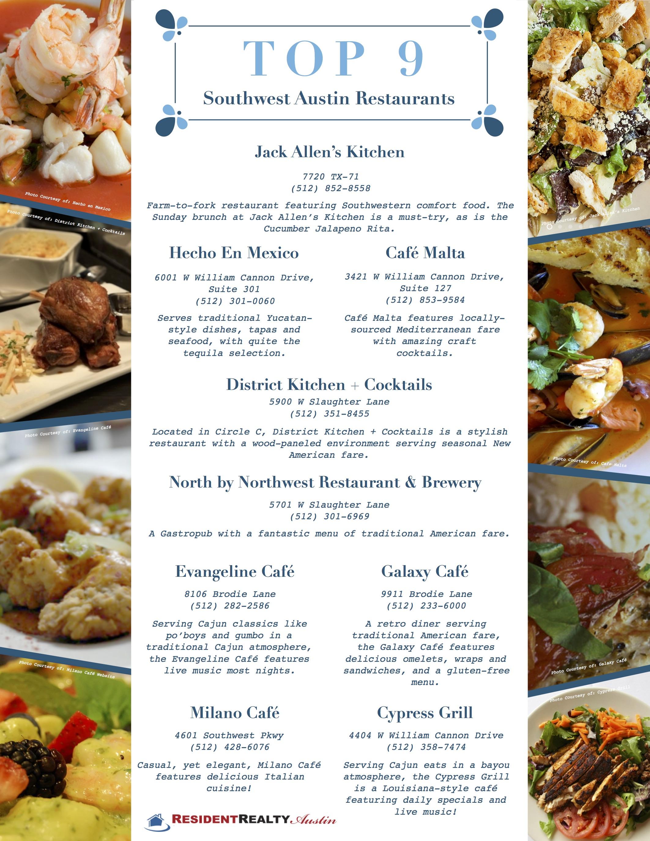 Top 9 Southwest Austin Restaurants