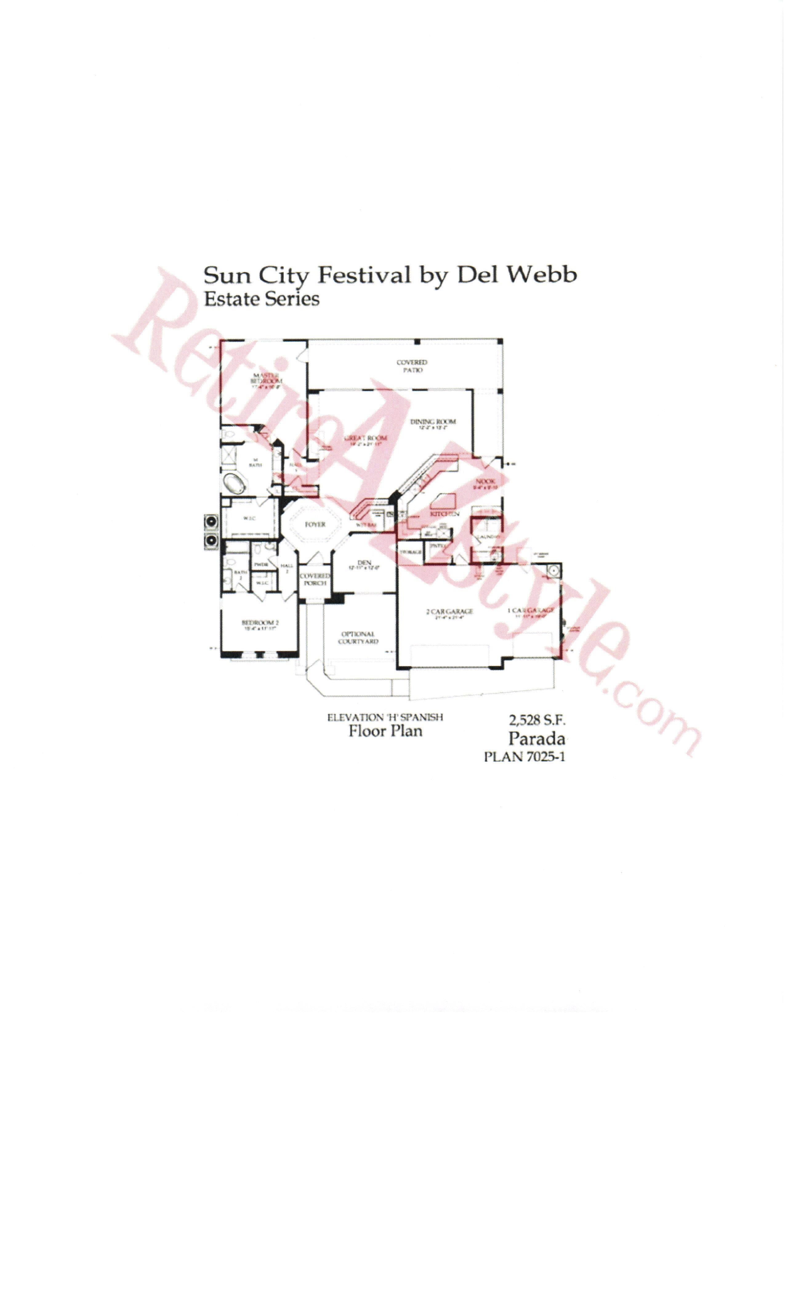 Sun City Festival Floor Plans