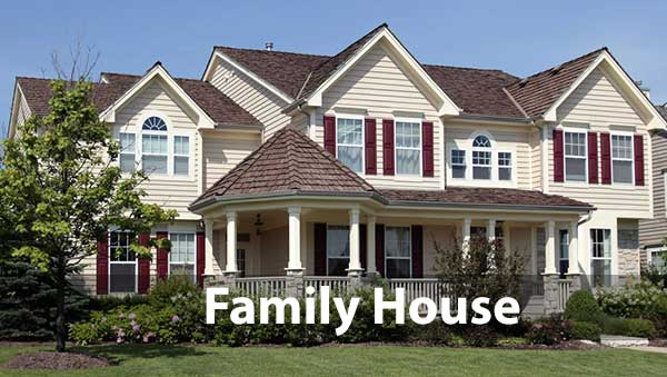 Family size house