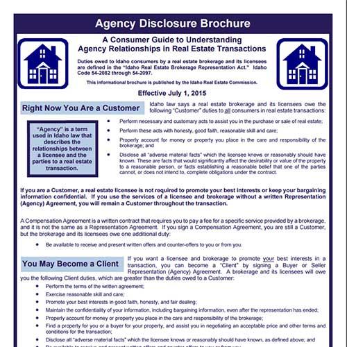 Idaho Agency Disclosure Brochure