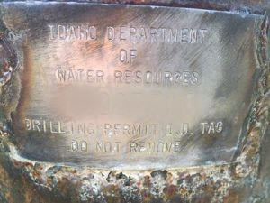 Image of Idaho Well Tag