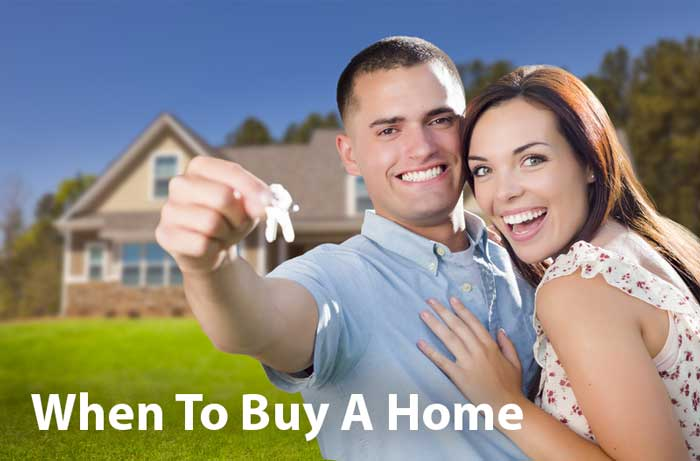 Young couple when to buy a home
