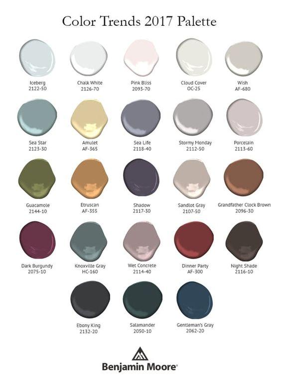 Benjamin Moore- 2017 Color Pallet