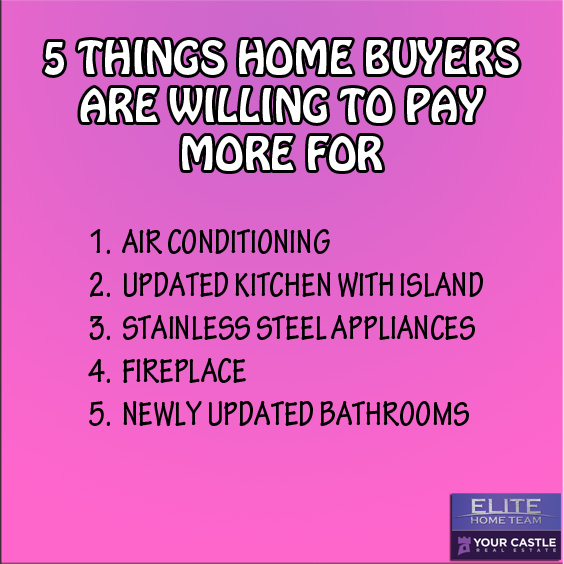 5 THINGS HOME BUYERS PAY MORE FOR