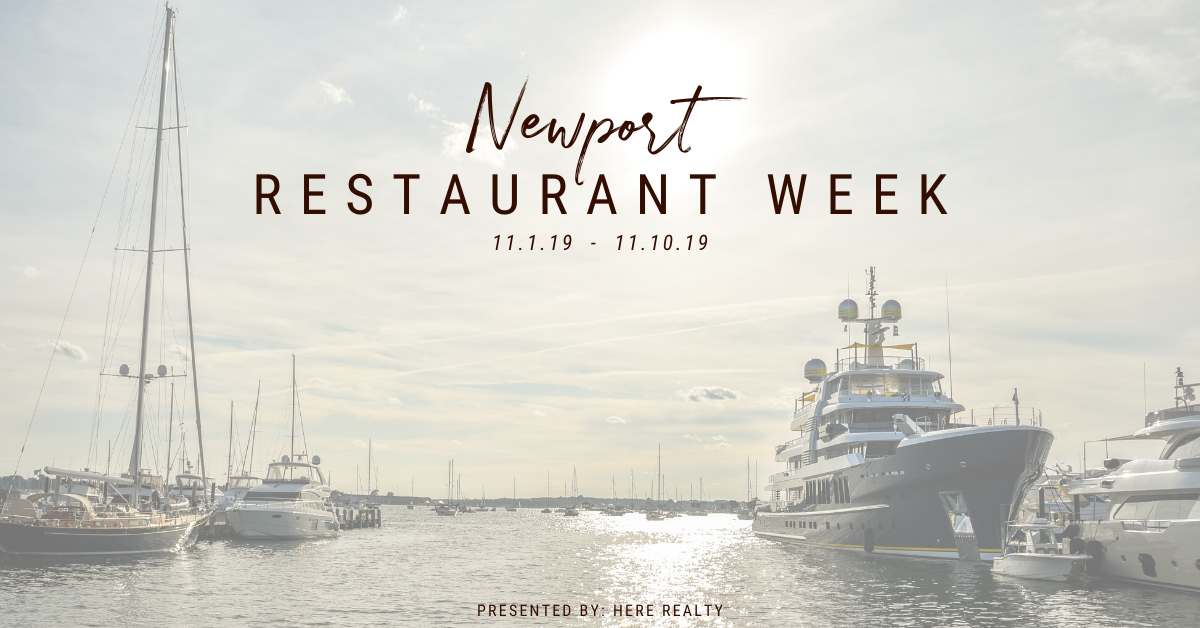 List of restaurants participating in Newport Restaurant Week in the Fall of 2019