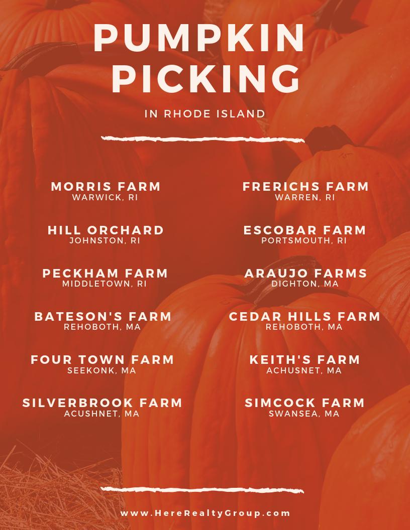 Pumpkin Picking in RI
