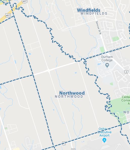 Northwood, Oshawa Map