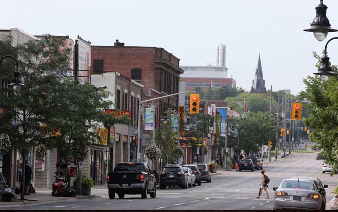 Oshawa downtown banner