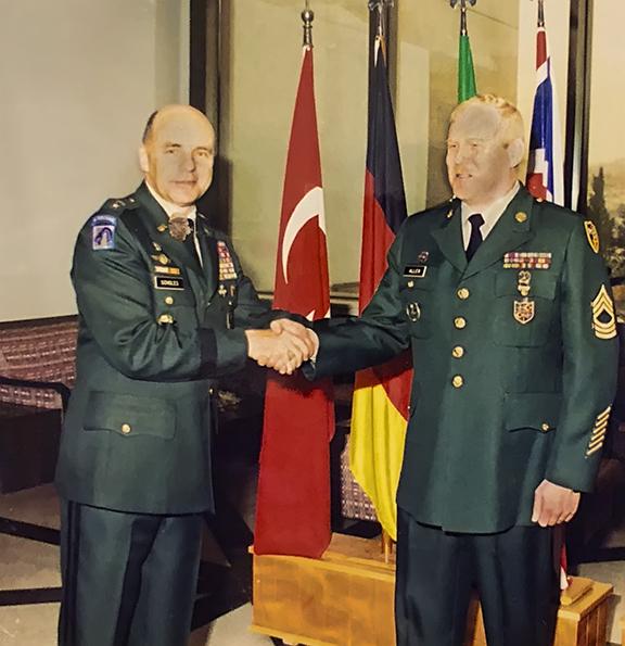 Rick Allen at Nato Headquarters in Izmir Turkey