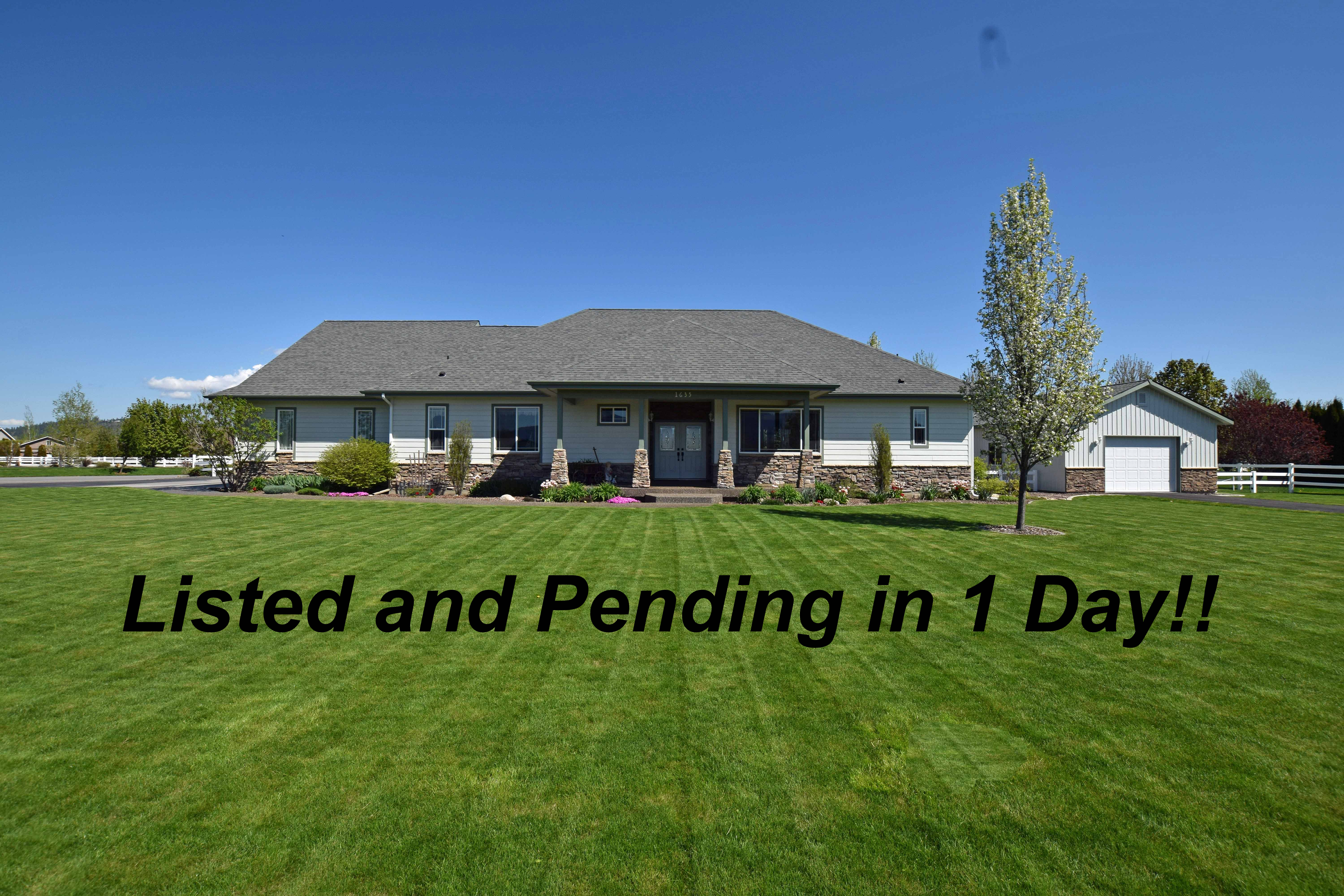Listed and Pending in 1 Day!
