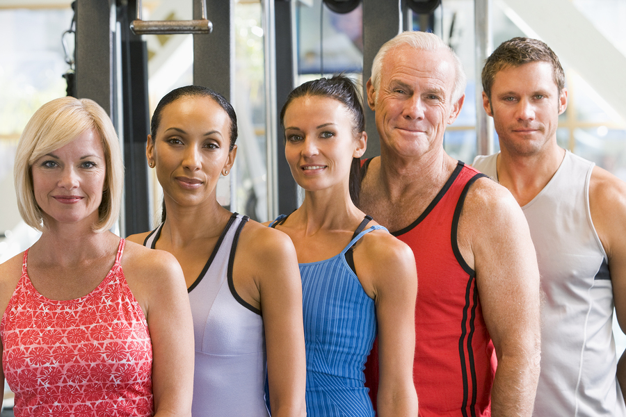 Doublegate real estate owners get fit at the community clubhouse.