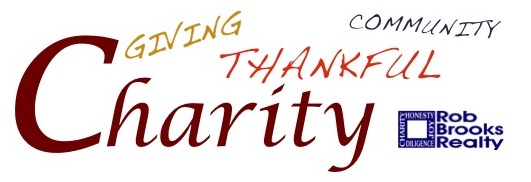 Charity, Giving, Thankful & Community with Rob Brooks Realty logo