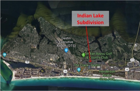 Map Location of Indian Lake Subdivision