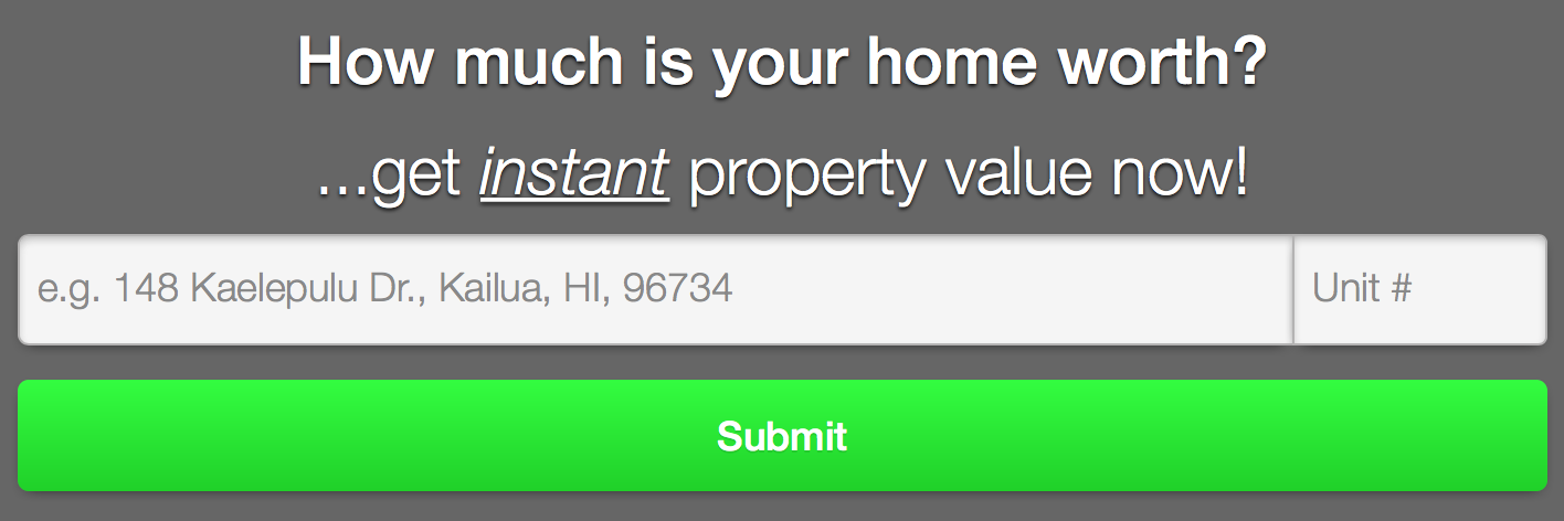 Rob Brooks Realty Property Valuation Tool