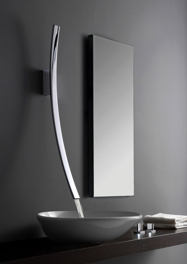 modern silver faucet