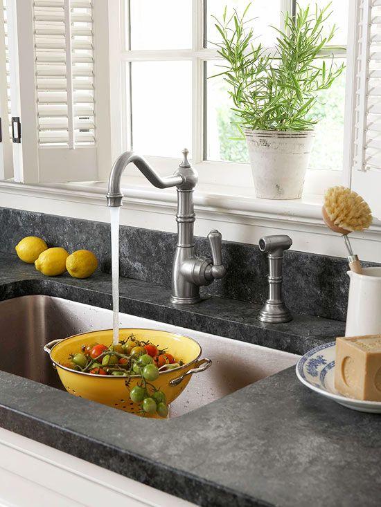 silver kitchen sink faucet