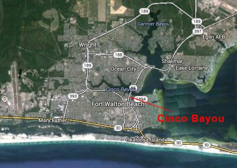 Map Location of Cinco Bayou
