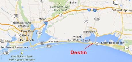 Map Location of Destin Florida