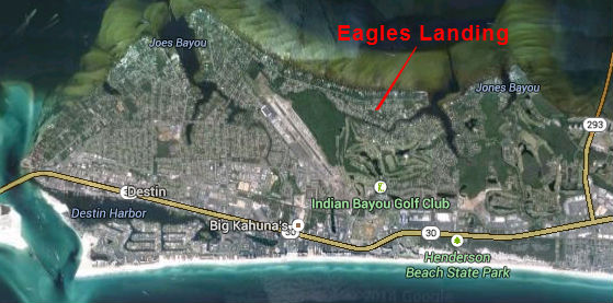 Map Location of Eagles Landing Subdivision