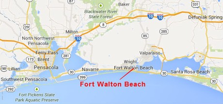 Map Location of Fort Walton Beach Florida