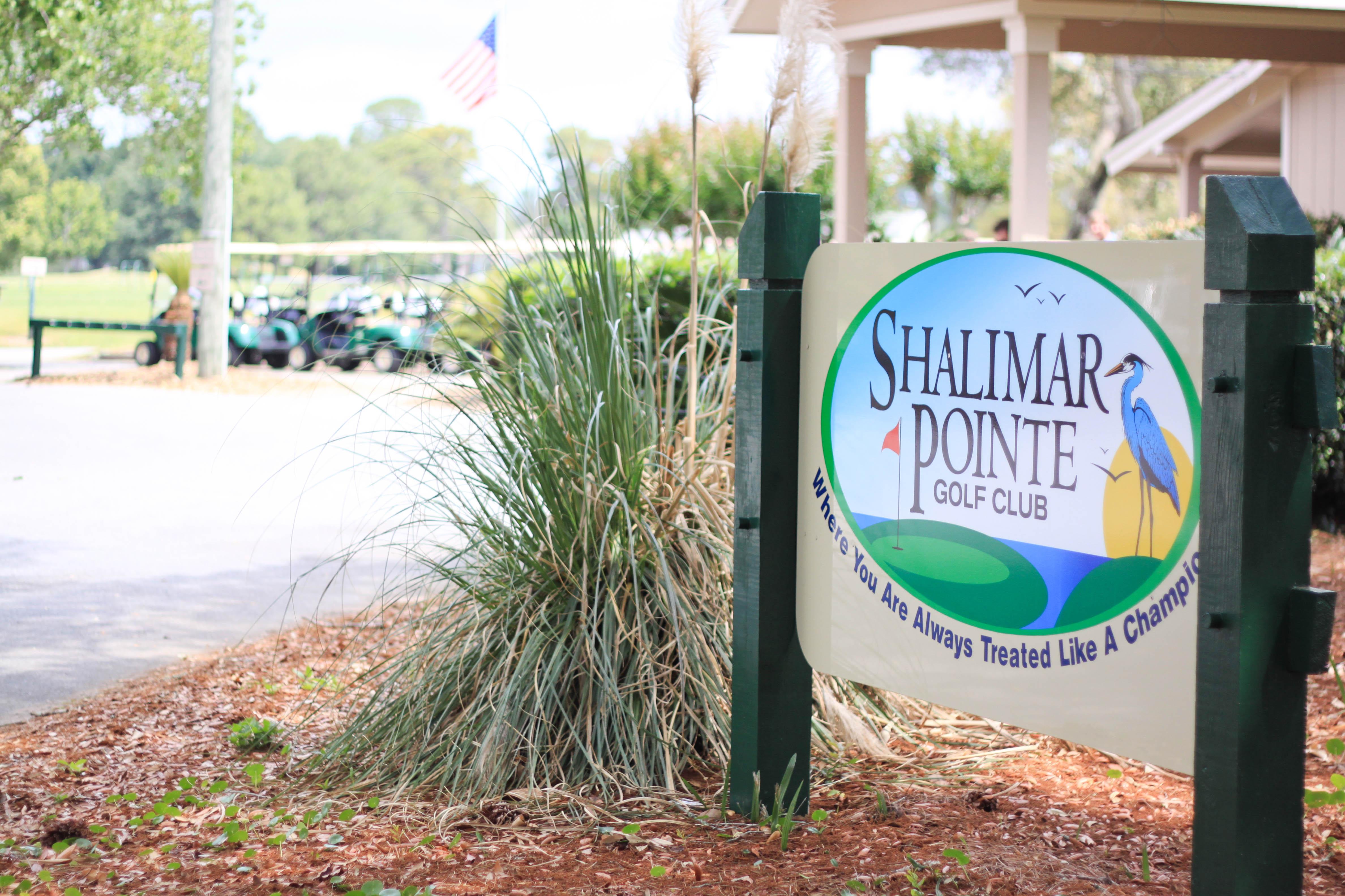 Shalimar Pointe Golf Club Sign