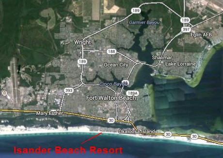 Map Location of The Islander Beach Resort