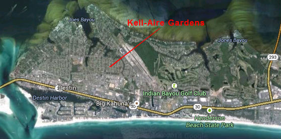 Map Location of Kell-Aire Gardens Subdivision