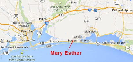 Mary Ester Florida Map.Mary Esther