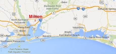 Map Location of Milton Florida